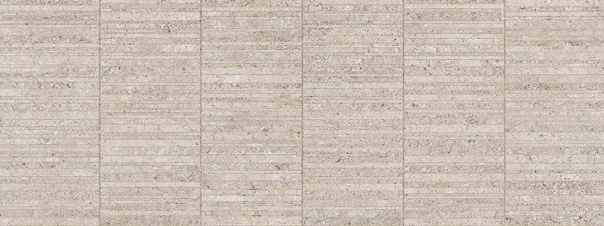 Porcelanosa Stripe Mosa-River Caliza Tile 45 x 120 cm