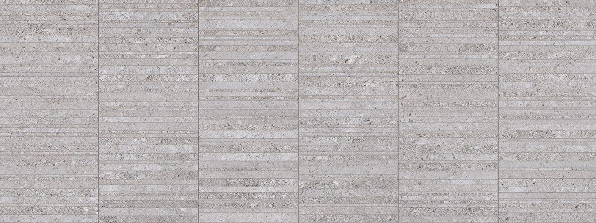 Porcelanosa Stripe Mosa-River Acero Tile 45 x 120 cm