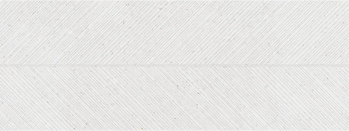 Porcelanosa Spiga Prada White Tile 45 x 120 cm