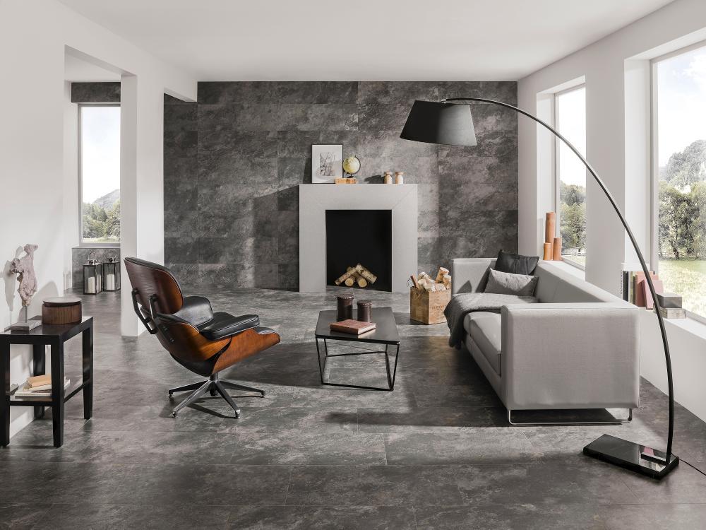 Porcelanosa Mirage Dark Floor Installation Photo