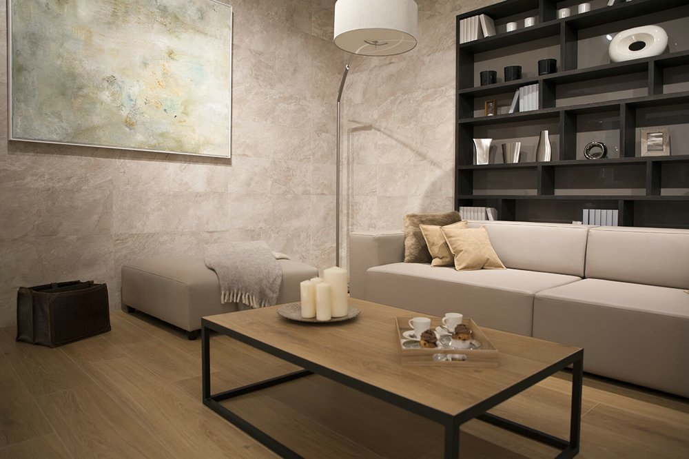 Porcelanosa Mirage Cream Installation Photo