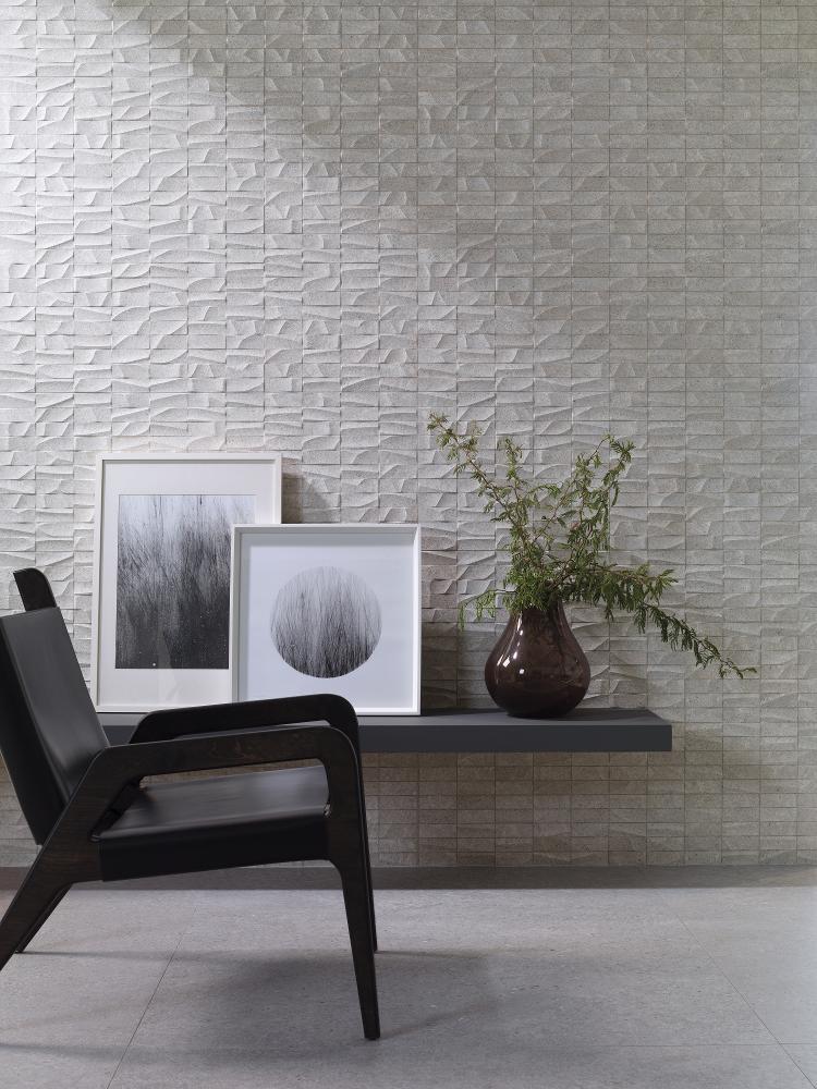 Porcelanosa Prada Acero 100 x 100 cm, Porcelanosa Mosaico Prada Acero 45 x 120 cm