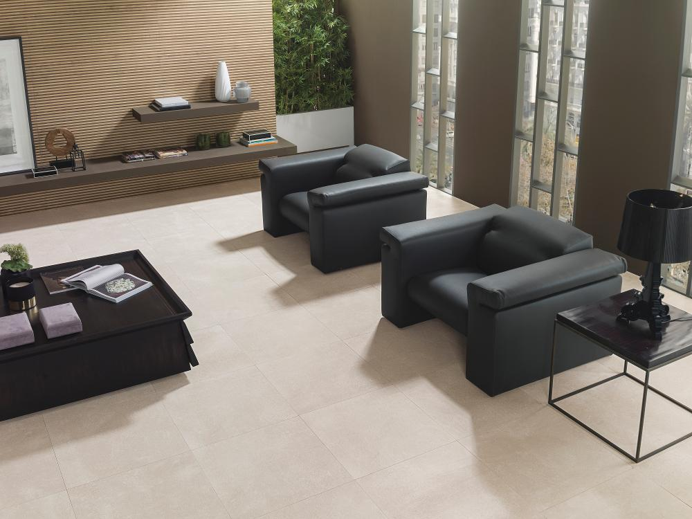 Porcelanosa Bottega Caliza Floor Tile Installation Image