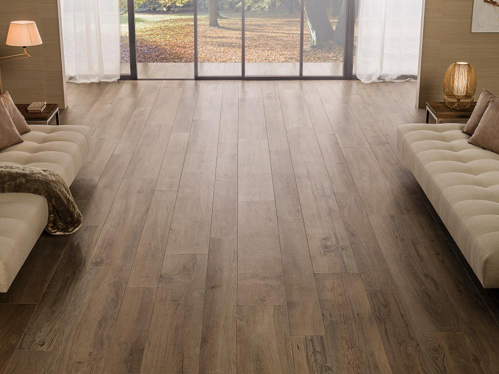 Porcelanosa Manhattan Cognac Floor Installation Image