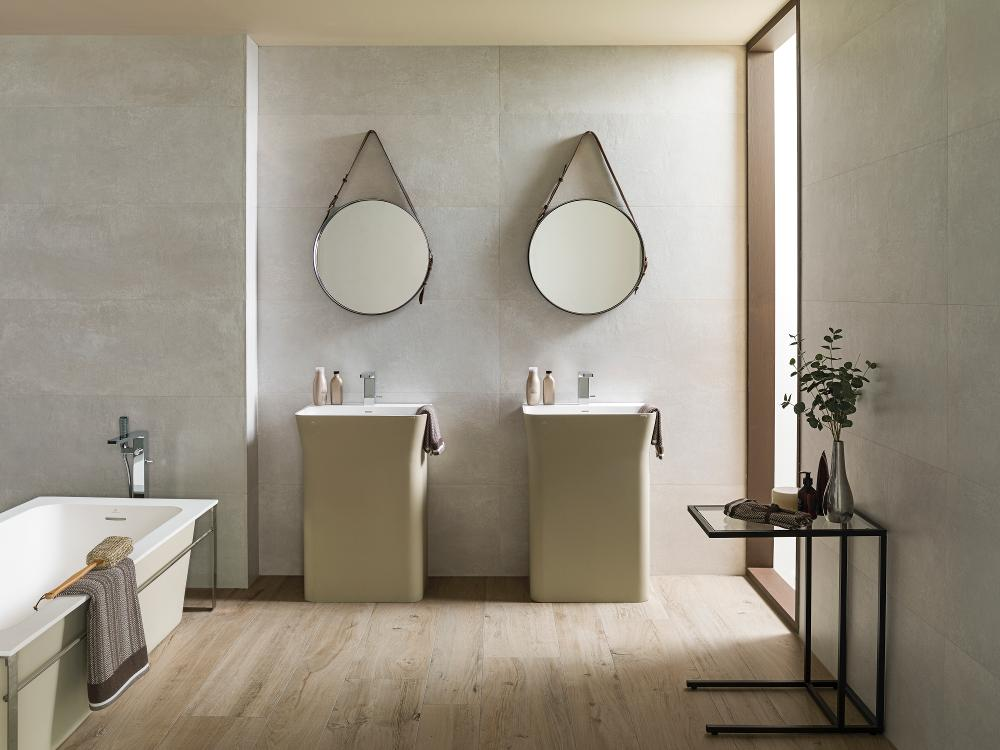 Porcelanosa Manhattan Maple Floor Installation Image