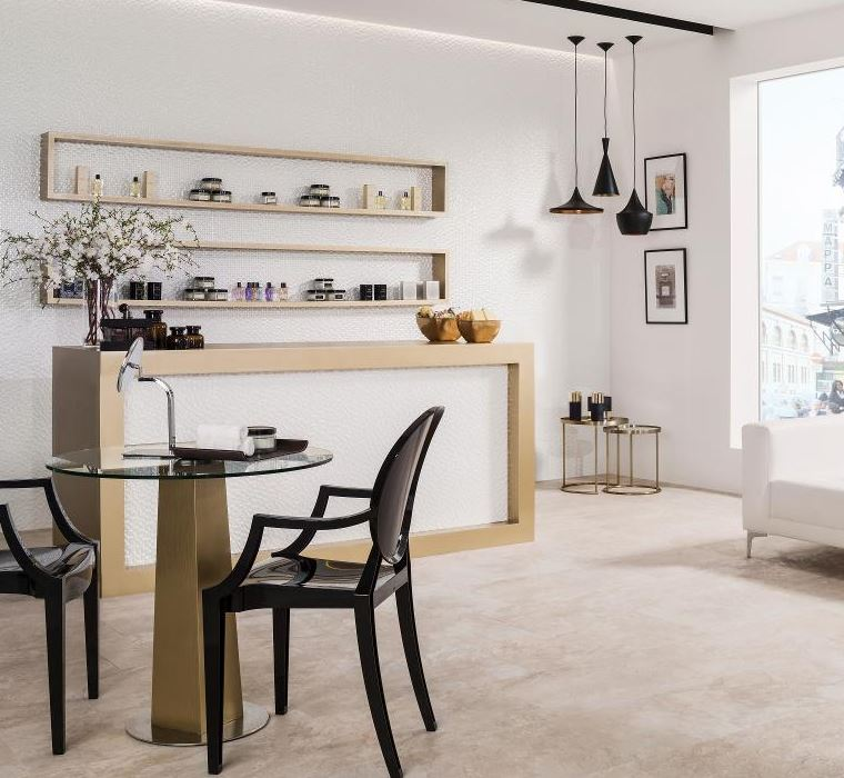 Porcelanosa Mirage Cream Floor Installation Photo