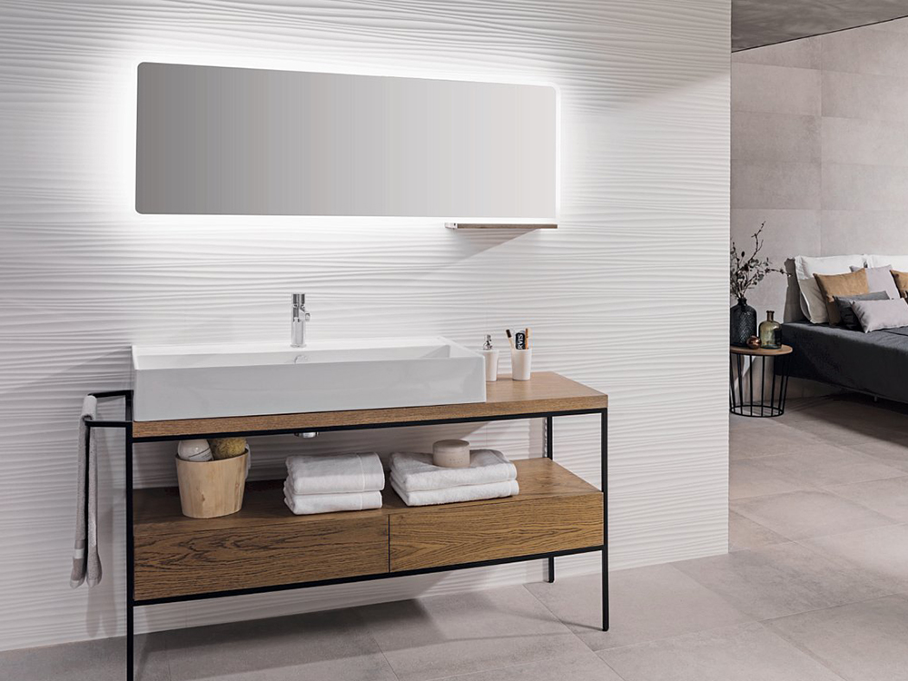 Porcelanosa Oporto White Matt 45 X 120 Cm 100202701 Mp