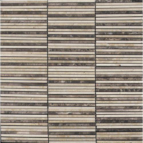 Porcelanosa Aichi Browns Moasic Tile 29.8 x 30.5 cm