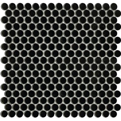 Porcelanosa Air Dots Black Mosaic Wall Tile