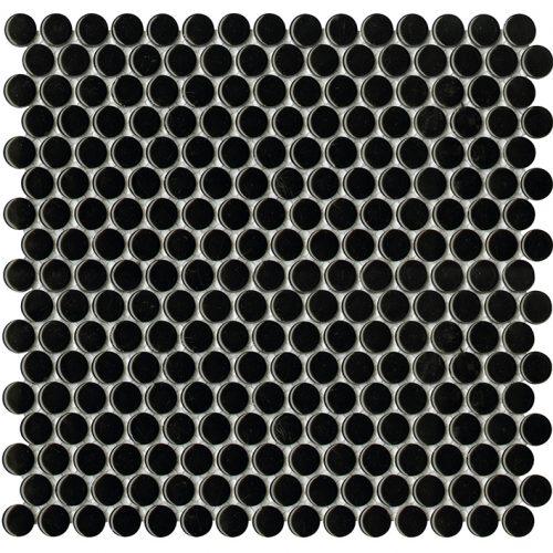 Porcelanosa Air Dots Black Mosaic Wall Tile