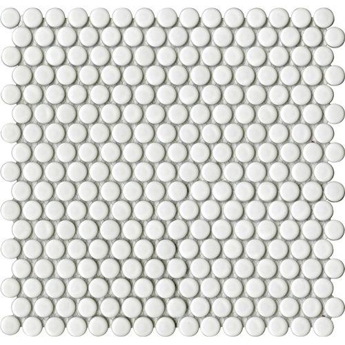 Porcelanosa Air DOts White Matt Mosaic Wall Tile 31 x 32.4 cm