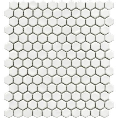 Porcelanosa Air Hexagon White Matt Mosaic Tile 27.2 x 30.4 cm