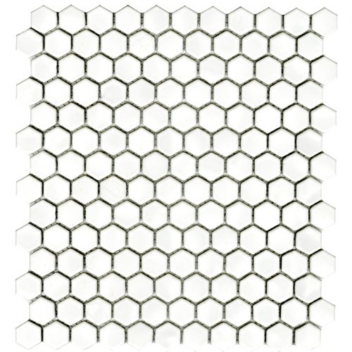 Porcelanosa Air Hexagon White Mosaic Tile 27.2 x 30.4 cm
