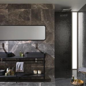 Porcelanosa Air Hexagon Black 27.2 x 30.4