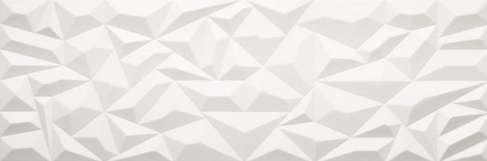 Porcelanosa Prisma White Matt Tile 33.3 x 100