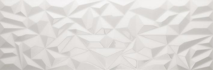 Porcelanosa Prisma White Tile 33.3 x 100
