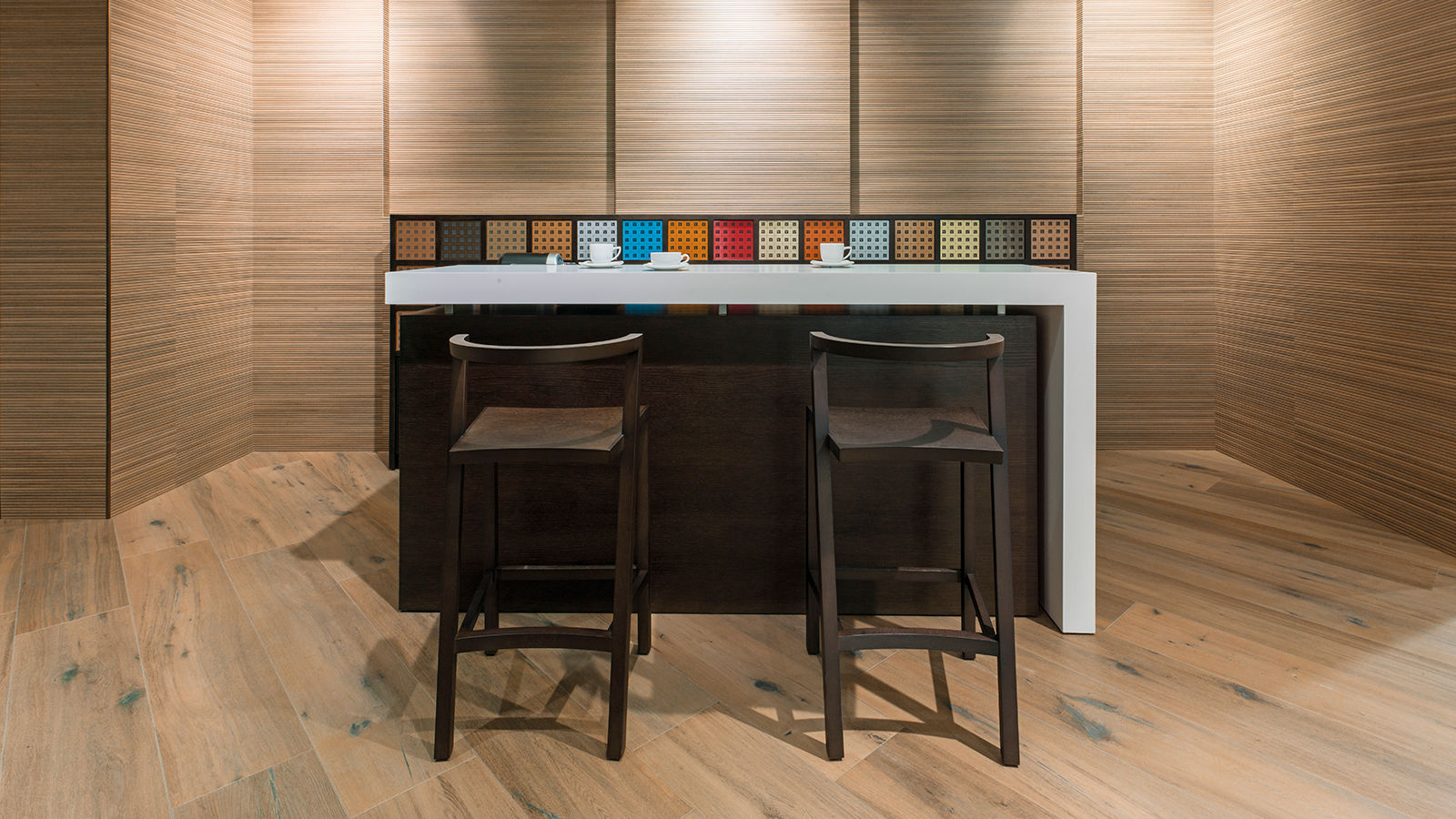 Porcelanosa Ice Nebraska Coffee Installation Image
