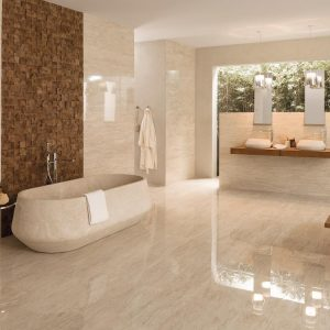 Porcelanosa Travertino Medici 45 x 120 cm, Travertino Medici 59.6 x 59.6 cm