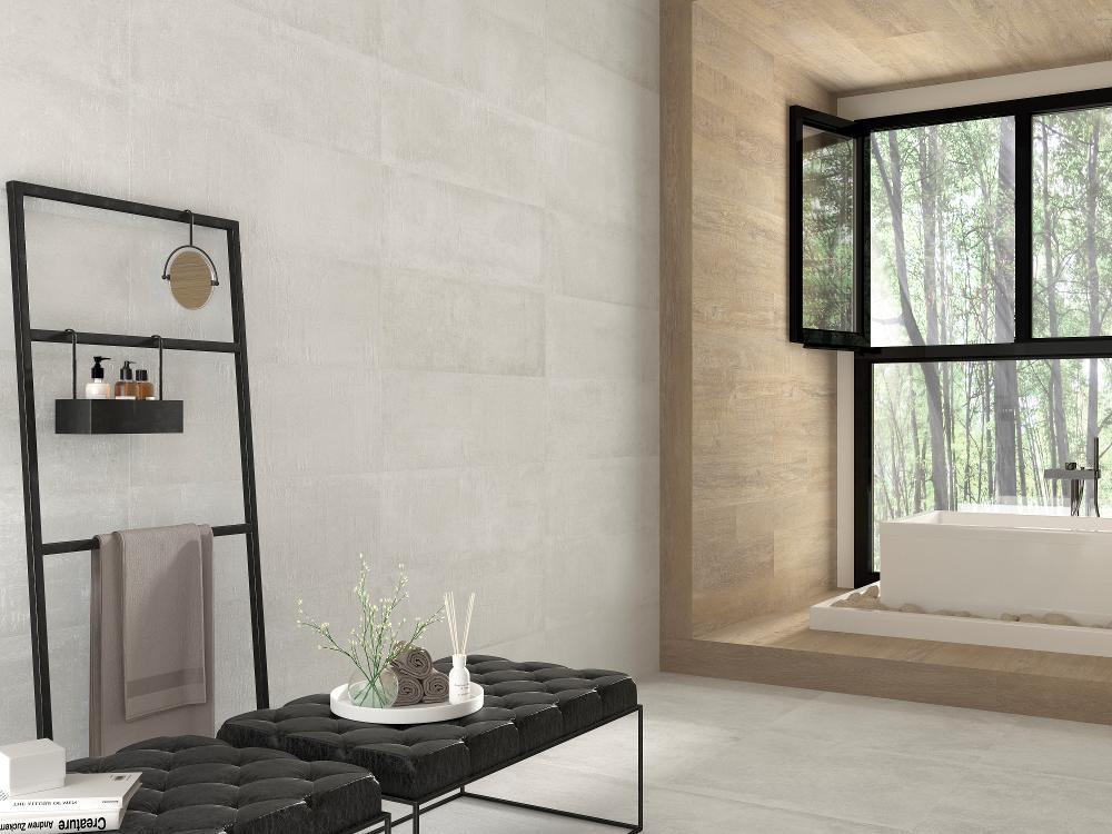 Porcelanosa Newport White Nature Tile 59 6 X 59 6 Cm Mp