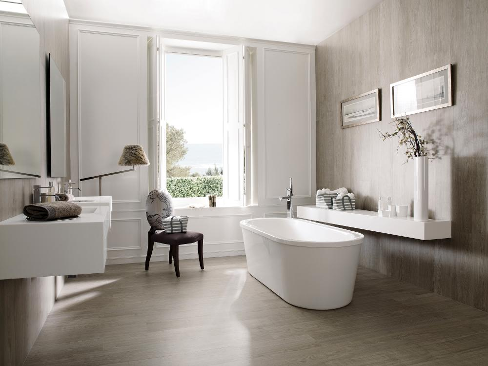 Porcelanosa Canda White Wash 19.3 x 120 cm Bathroom