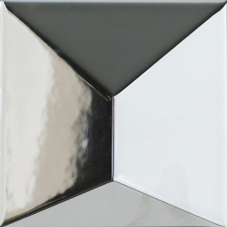 Porcelanosa Faces S3 Plata Tile 12.5 x 12.5 cm
