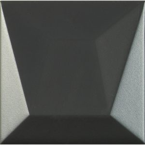 Porcelanosa Faces S4 Negro Tile 12.5 x 12.5 cm