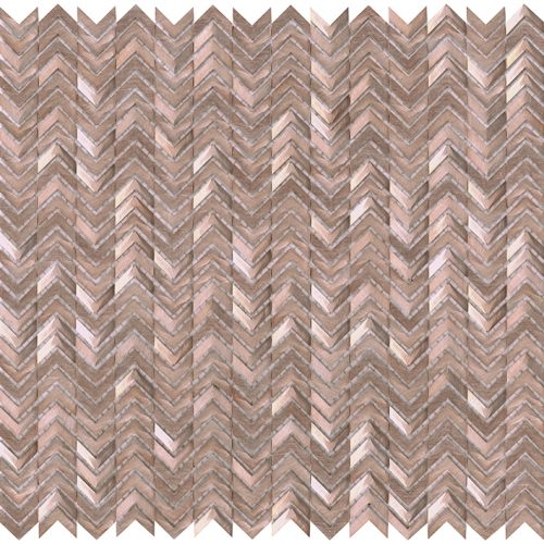Porcelanosa Gravity Aluminium Arrow Rose Gold Tile