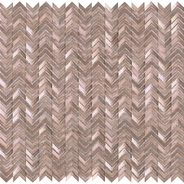 Porcelanosa Gravity Aluminium Arrow Rose Gold Tile