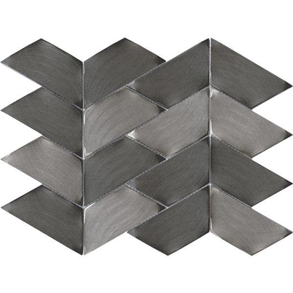 Porcelanosa Gravity Aluminium Trace Metal Titanium Tile