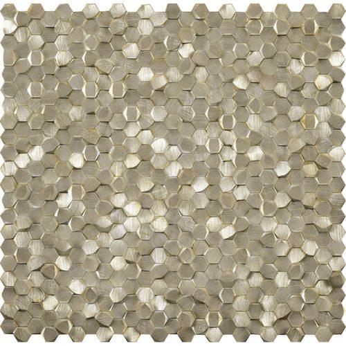 Porcelanosa Gravity Aluminium 3D Hexagon Gold Tile