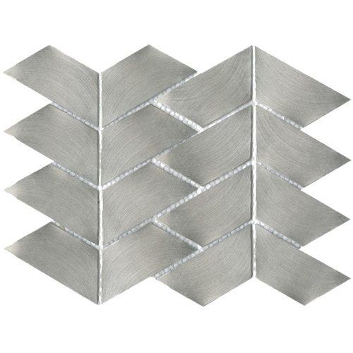 Porcelanosa Gravity Aluminium Trace Metal Tile