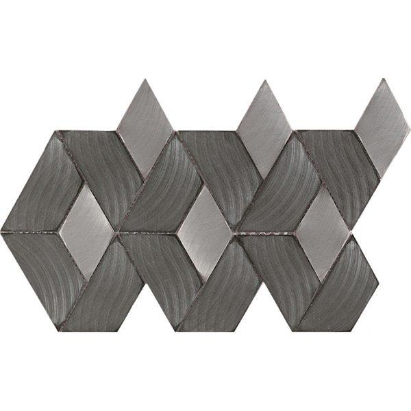 Porcelanosa Gravity Aluminium Braid Metal Titianium Tile