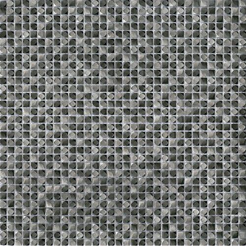 Porcelanosa Gravity Aluminium Cubic Metal Titanium Tile