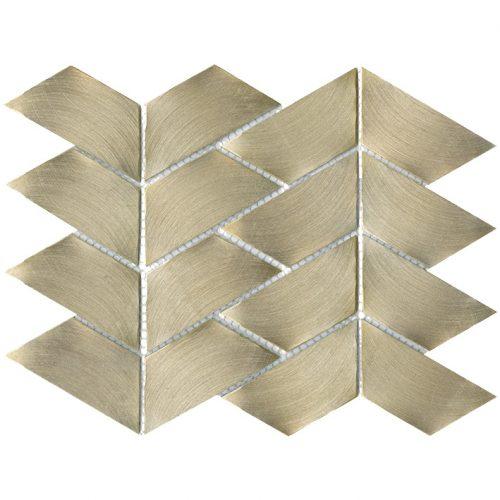 Porcelanosa Gravity Aluminium Trace Gold Tile