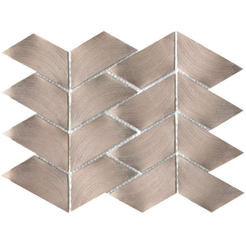 Porcelanosa Gravity Aluminium Trace Rose Gold Tile
