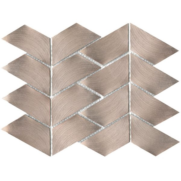 Porcelanosa Gravity Aluminium Trace Rose Gold Tile