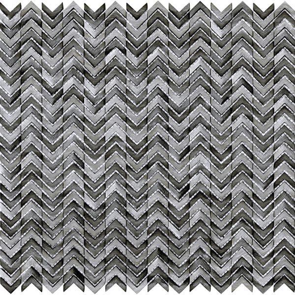 Porcelanosa Gravity Aluminium Arrow Metal Titanium Tile
