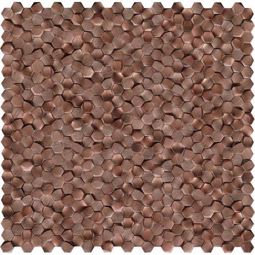 Porcelanosa Gravity Aluminium 3D Hexagon Copper Tile