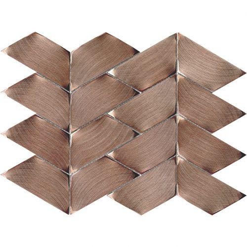 Porcelanosa Gravity Aluminium Trace Copper Tile