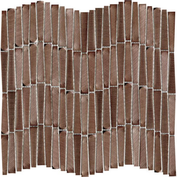 Porcelanosa Gravity Aluminium Wave Copper Tile