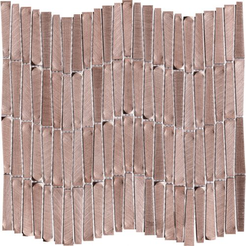 Porcelanosa Gravity Aluminium Wave Rose Gold Tile