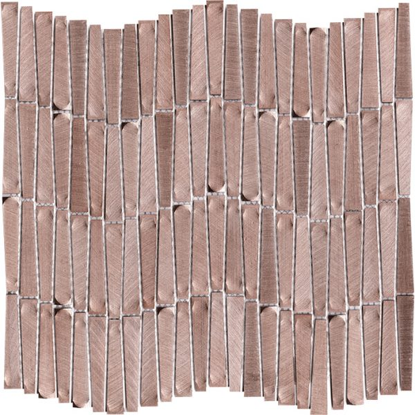 Porcelanosa Gravity Aluminium Wave Rose Gold Tile