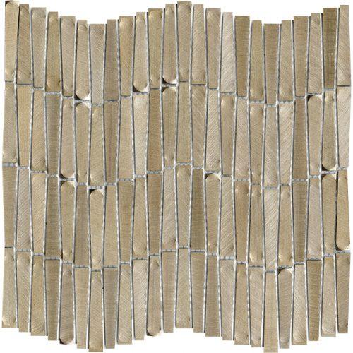 Porcelanosa Gravity Aluminium Wave Gold Tile