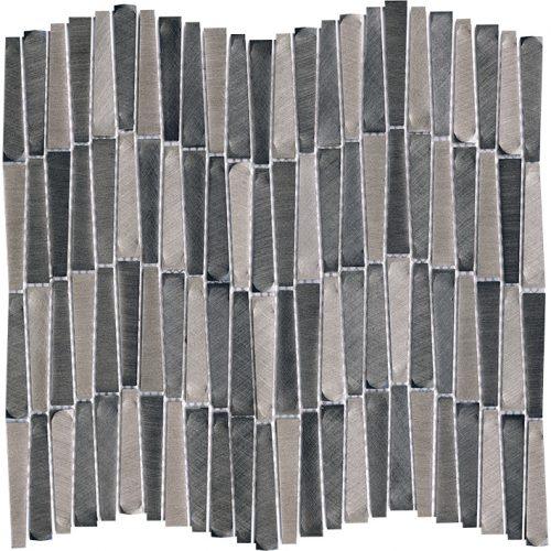 Porcelanosa Gravity Aluminium Wave Metal Titanium Tile