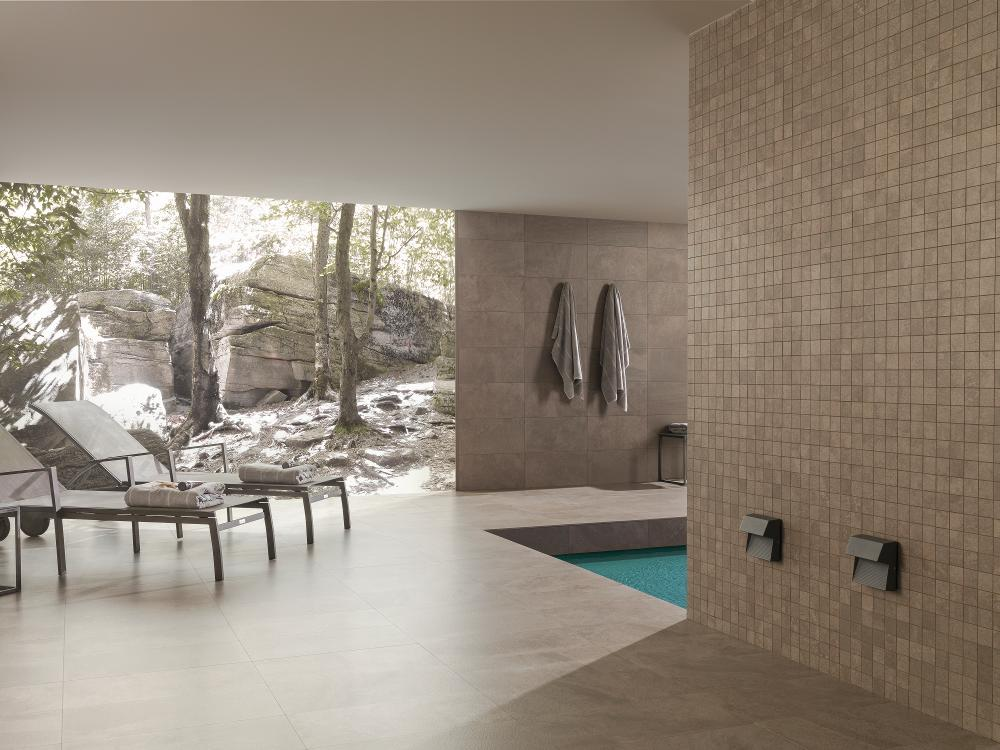 Porcelanosa Deep Brown Nature AntiSlip 59.6 x 59.6 cm, Porcelanosa Deep Brown Nature 29.7 x 59.6 cm, Porcelanosa Deep Brown Nature Mosaic
