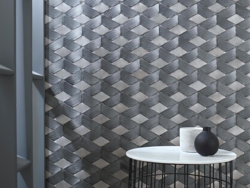 Porcelanosa Gravity Aluminium Braid Metal Titanium 35.8 x 23.7 cm