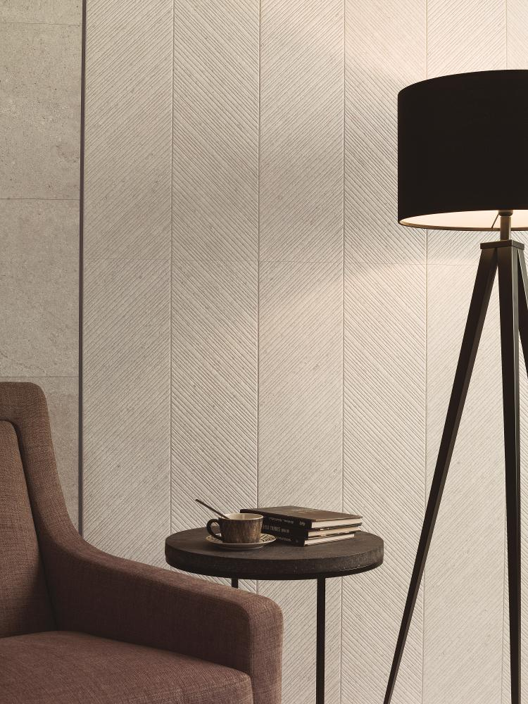 Porcelanosa Spiga Prada Caliza 45 x 120 cm
